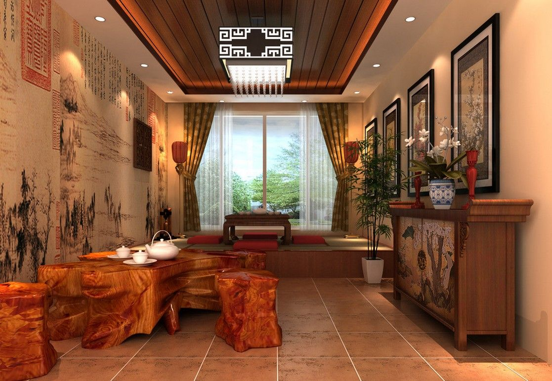 Asian House Decor Chinese House Interiors Chinese Teahouse Interior With