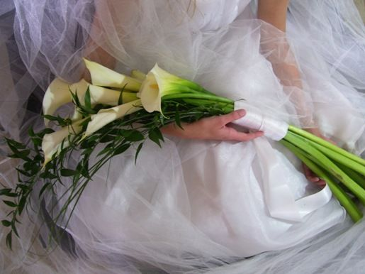 Calla Lily Long Stemmed Wedding Bouquets Flower Bouquet Wedding