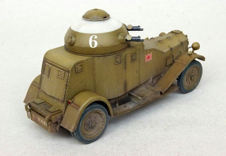 Typr 87 Japanese Armoured Car 28mm Armored Vehicles Toy Car