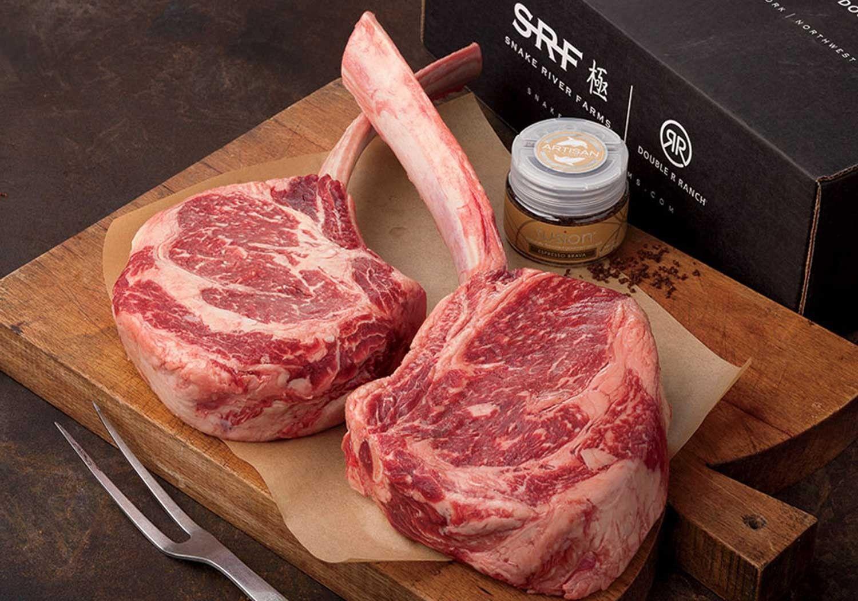 American Wagyu Tomahawk Steaks Food Gifts Delivered Steak Package Steak Wagyu Beef