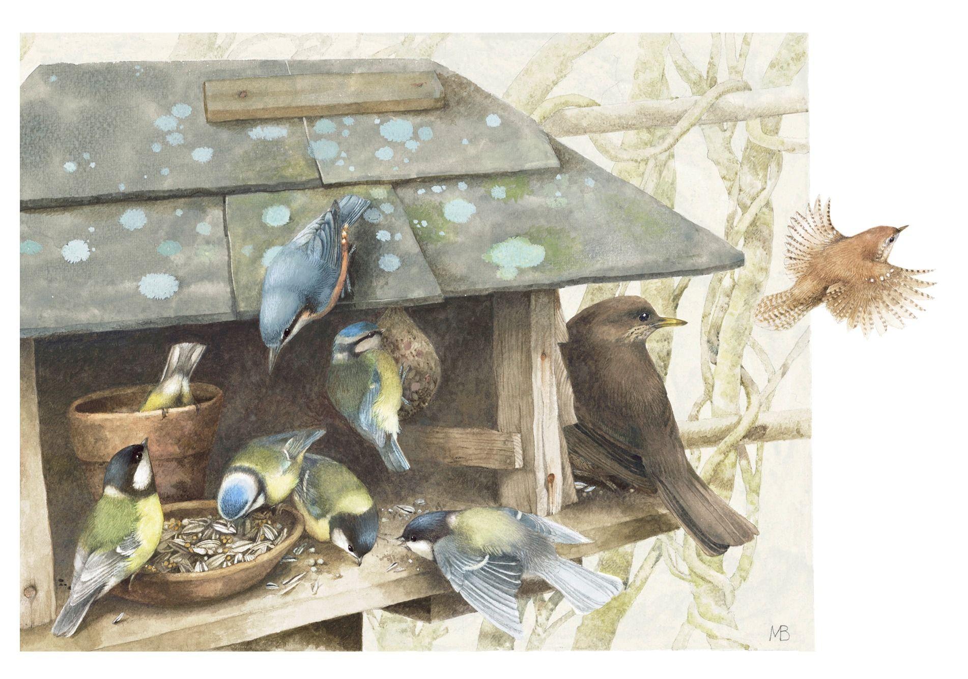 M Bastin Marjolein Bastin Verfkunst Vogeltjes