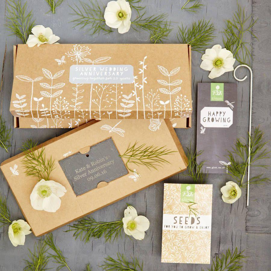 Grow Your Own Silver Wedding Anniversary Garden Gift