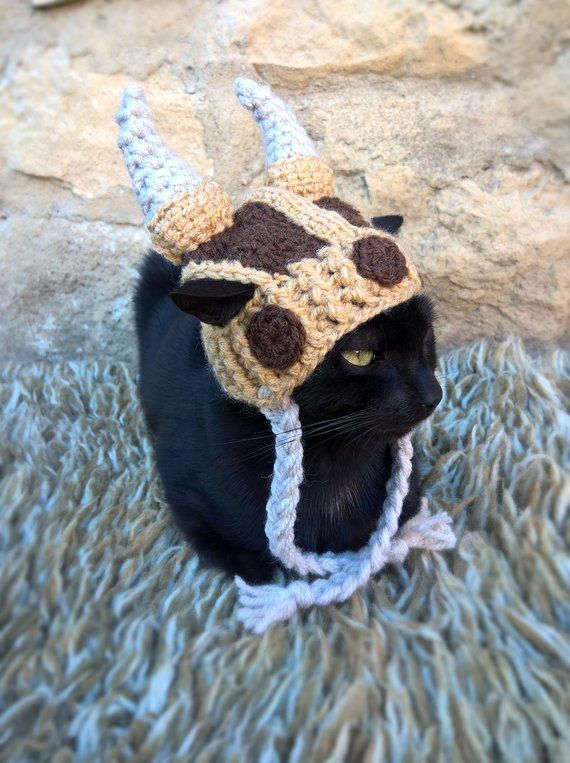 Viking Hat for Cat, Viking Helmet for Cat, Viking Pet Costume ...