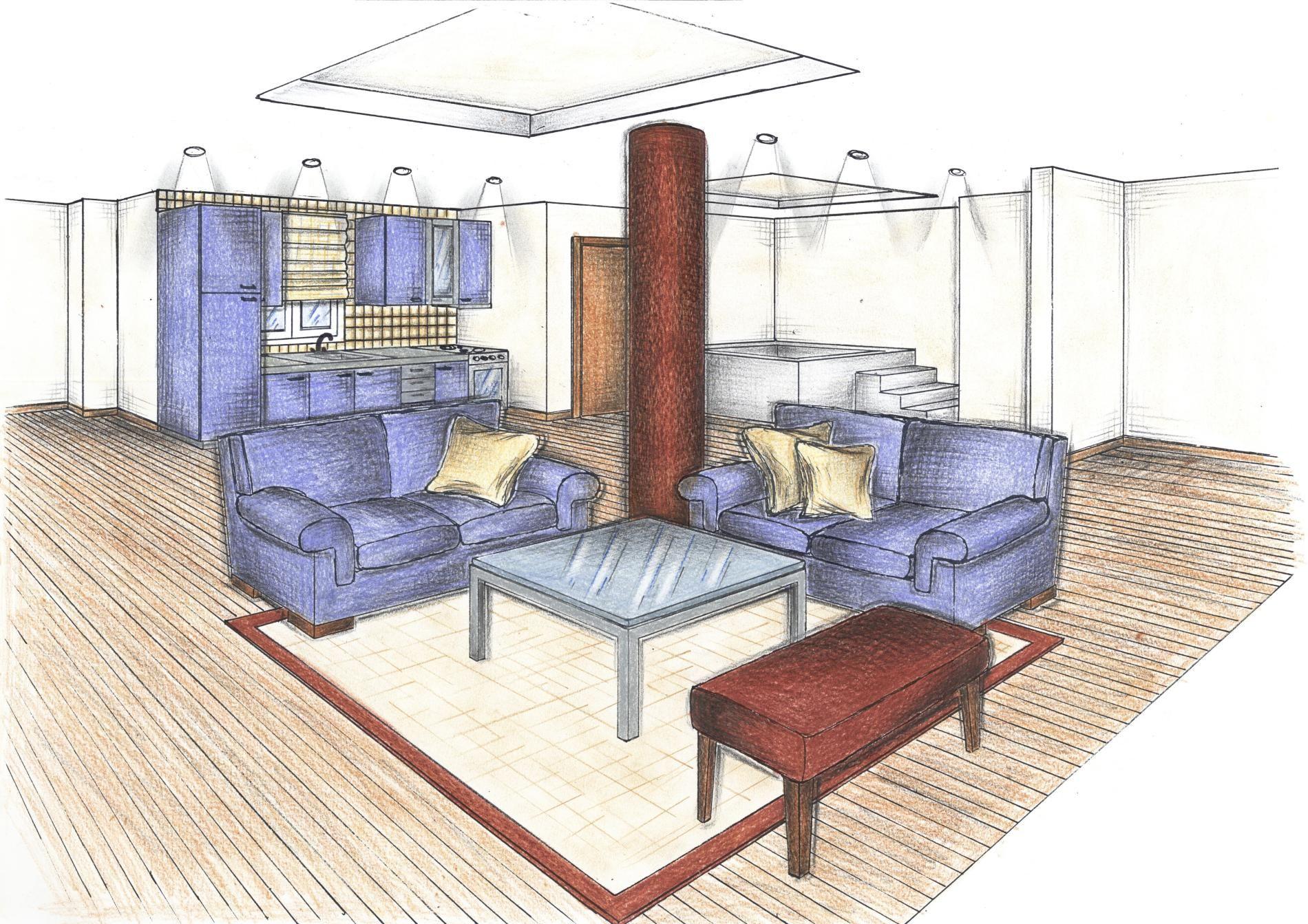 esplora queste idee e molte altre - Interior Design Drawings