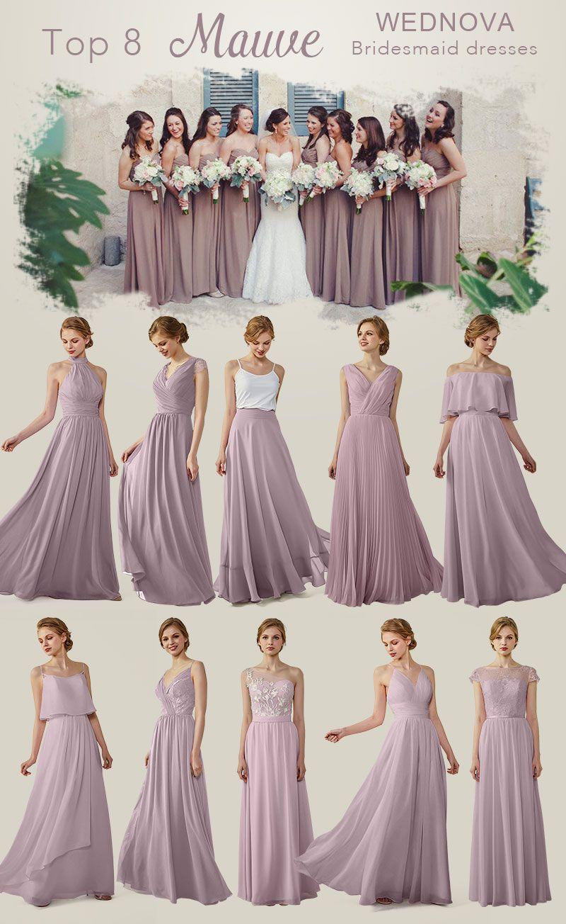 5759daa85a8 Mauve Chiffon Bridesmaid Dresses - Gomes Weine AG