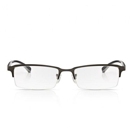 bd84c44527 Read Optics Mens Oxidised Chrome Alloy-Tech Supra Half Frame Rectangle  Reading Glass