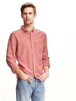 Slim-Fit Linen-Blend Shirt for Men  db8e58a077a28
