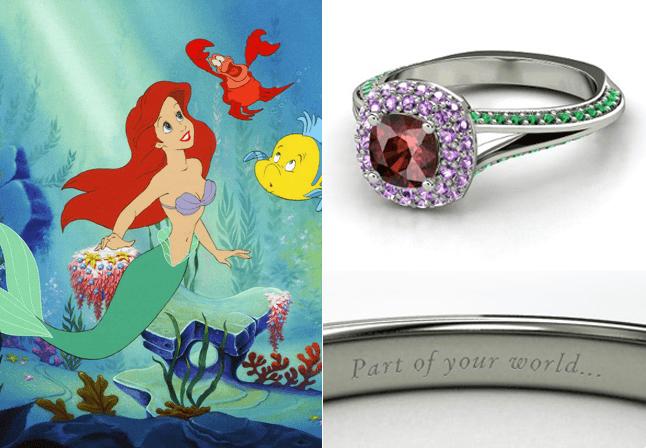 Anillos De Compromiso Inspirados En Las Princesas De Disney Compromiso Disney Joyas De Disney Anillos De Princesa