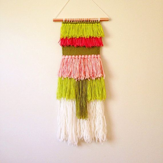 Woven Wall Hanging, Colorful Wall Art, Loom Weaving, Textile Wall ...