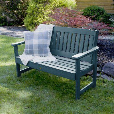 Three Posts Amelia Plastic Garden Bench In 2020 Plastic Garden