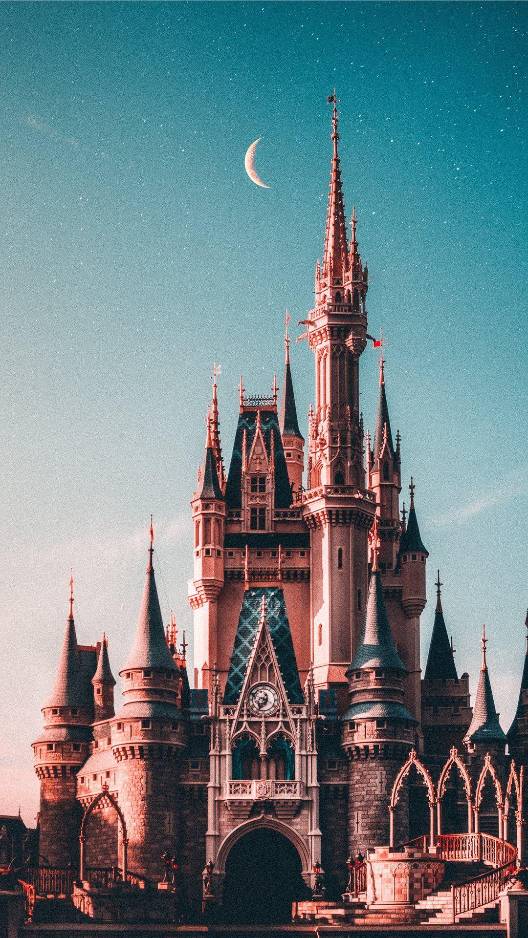 blue and beige Disneyland castle iPhone Wallpapers