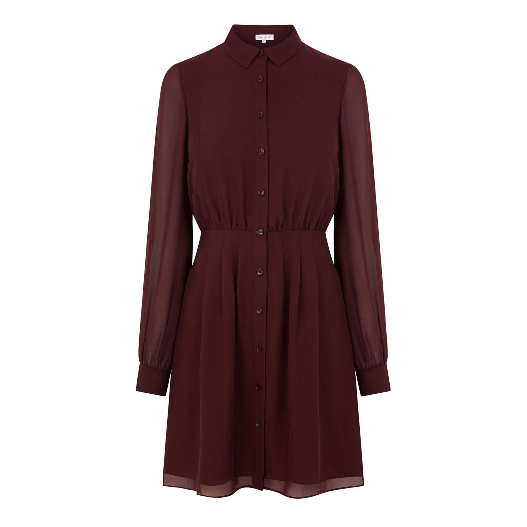 5b9d0a5336e3 Chiffon pintuck shirt dress in 2019 | beauty | Shirt Dress, Dresses ...
