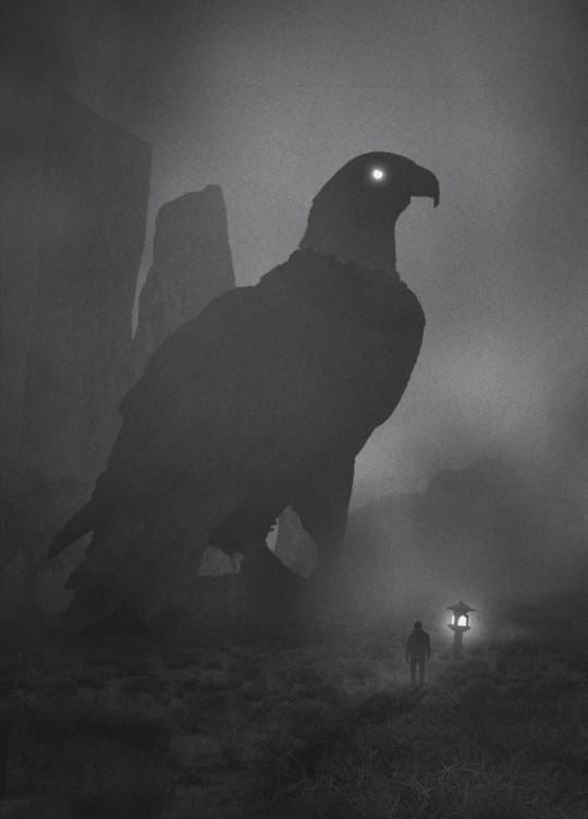 Polish Artist Dawid Planeta Illustrates His Fight Against - Artist suffering from depression illustrates his struggles with mysterious dark paintings
