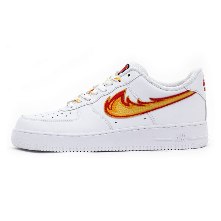 SKULL N' ROSES AIR FORCE 1 Low White Custom Sneakers, 2020