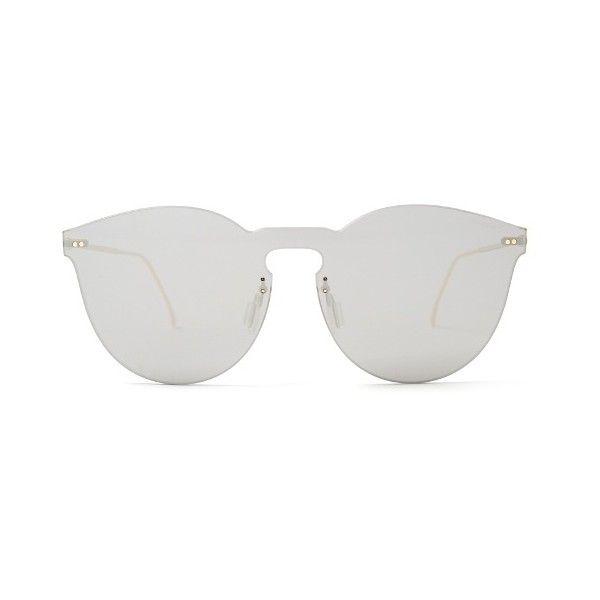 Illesteva Leonard 2 Mask sunglasses (117.330 CLP) ❤ liked on Polyvore featuring accessories, eyewear, sunglasses, glasses, sunnies, grey, round lens sunglasses, round lens glasses, illesteva glasses and illesteva