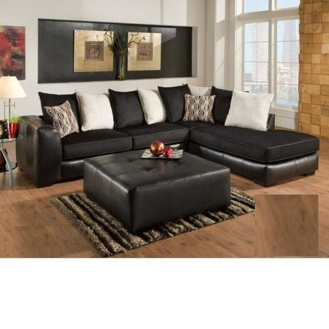 Ebony Adams Furniture Sectional Sofa Couch Living Room