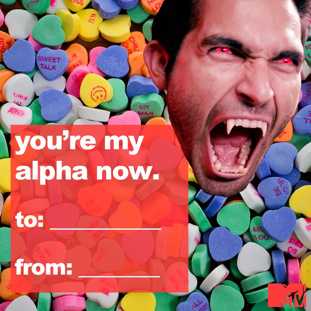 Teen Wolf Valentines!!!! And Now Scott Be On This Valentine :)
