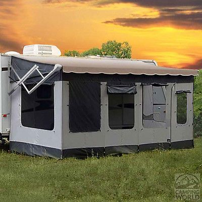 18 To 19 Rv Awning Outdoor Screen Room Enclosure Patio Covered Porch Deck Rv Screen Rooms Camping World Rv Camping