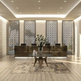 Luxury Italian Design 5 Star Hotel Lobby Doha Qatar