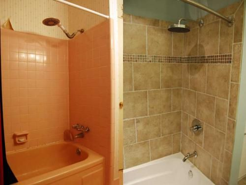 SMALL Home Remodel Before And After Portland Oregon Home Remodel - Mobile home bathroom showers
