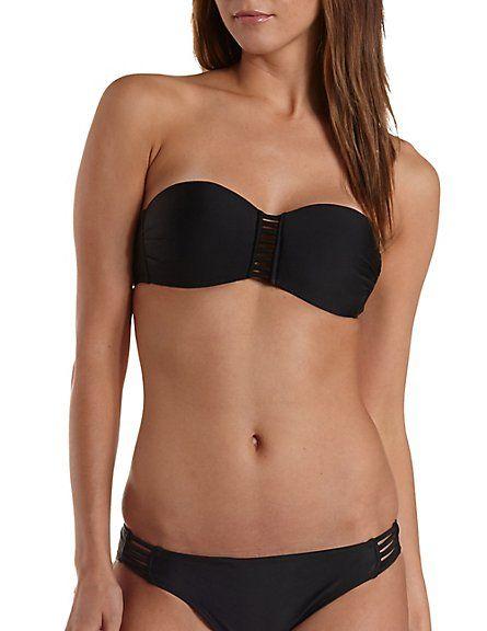 9ebdd75e2b brezlyn deshone...Caged Bandeau Bikini Top  Charlotte Russe  bikini ...