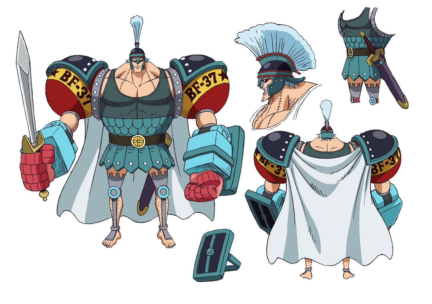One Piece Stampede colored version of Oda's designs One