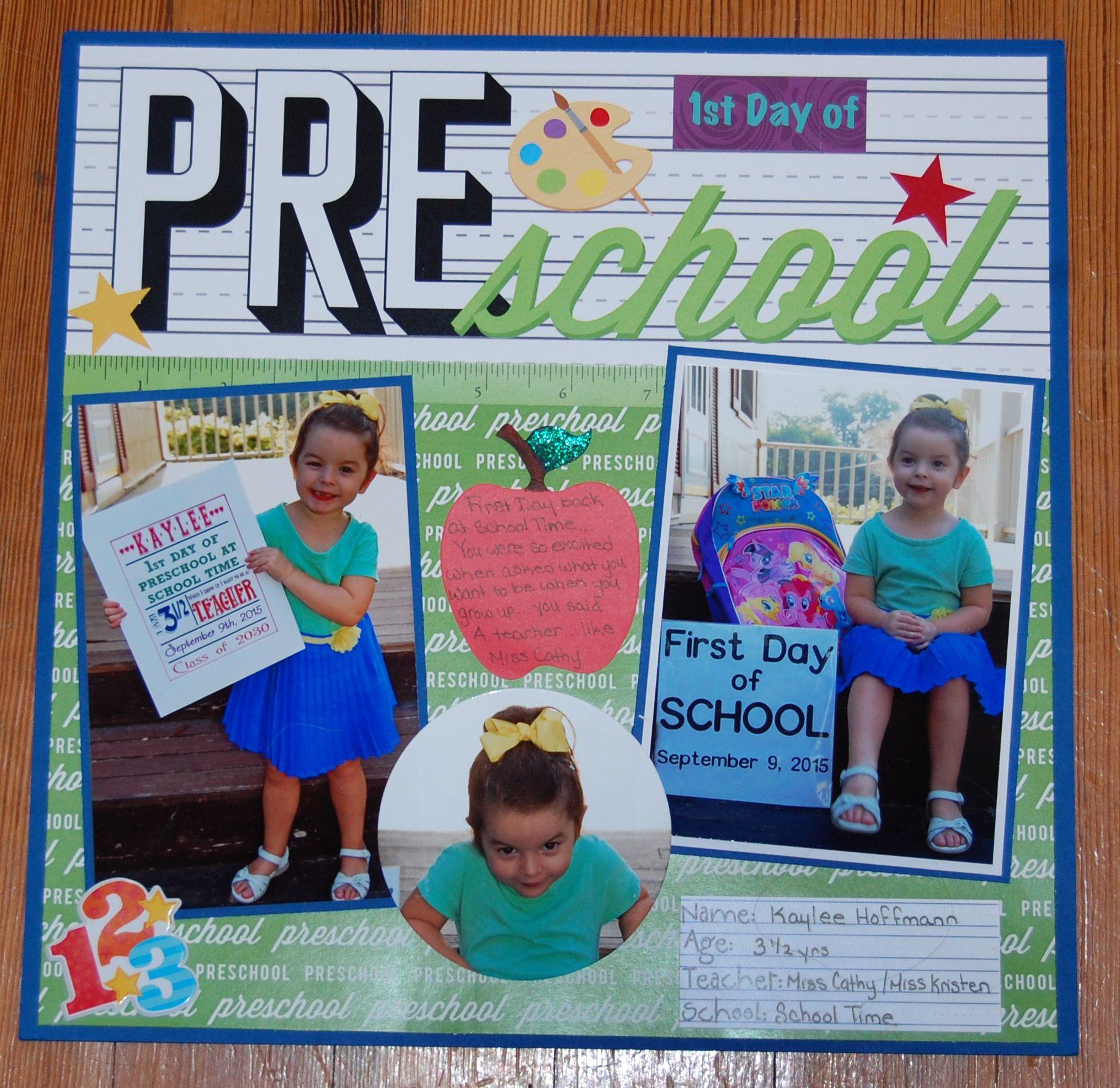 BACK TO SCHOOL Scrapbooking Scrapbook Creative Paper Piece Piecing Kids Child