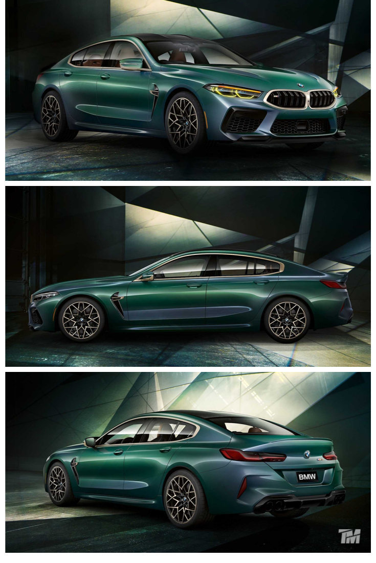 New Bmw M8 Gran Coupe First Edition Green A 4 Door Supercar Bmw Gran Coupe Coupe
