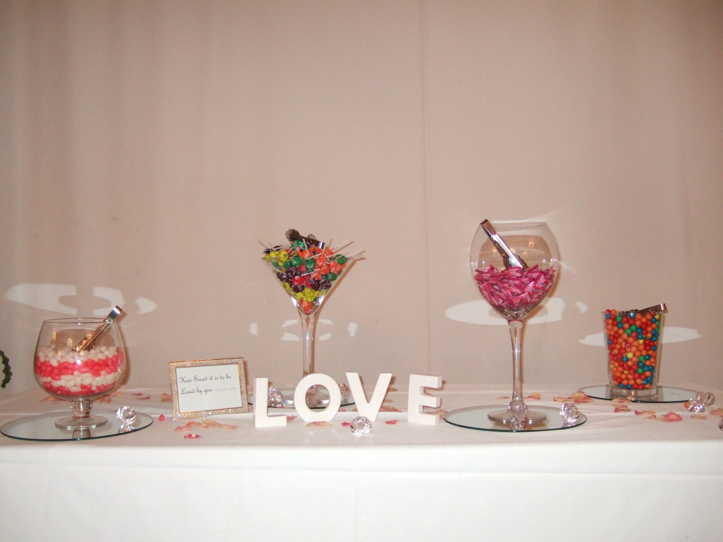 This was our candy buffet at the wedding, I think every ...