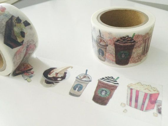 Coffee and Dessert Washi Tape by GoatGirlMH on Etsy