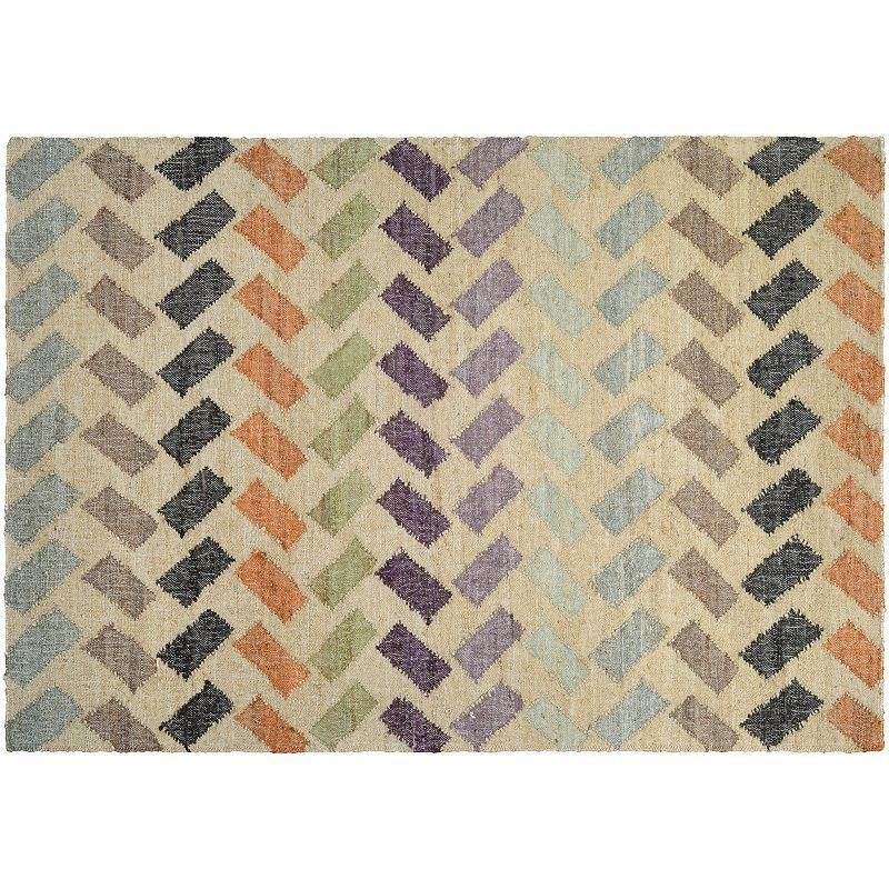 Couristan Mesquite Santa Clara Geometric Jute Rug, Multicolor