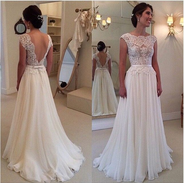 2016 New Hot Selling Custom Made Wedding Dresses Vestido de Noiva Casamento Robe De Mariage Lace Applique See-though Pleat