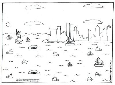 new york city coloring page by melanie hope greenberg - York Coloring Pages Printable