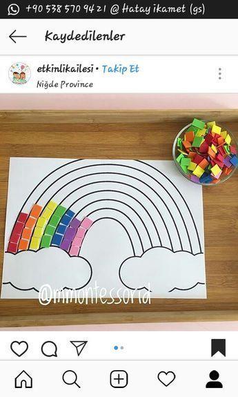 Collage rainbow #Collage #Rainbow