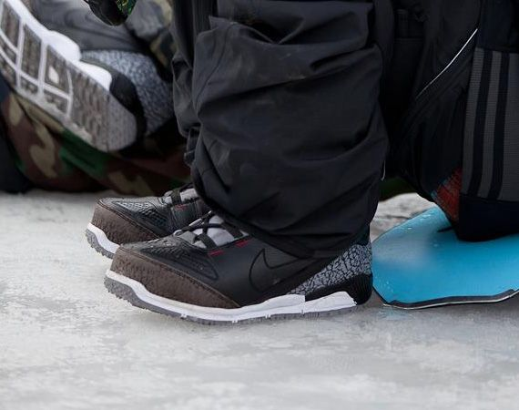 Nike Snowboarding Zoom Kaiju Boots - Inspired by Air Jordan III Retro Black  Cement