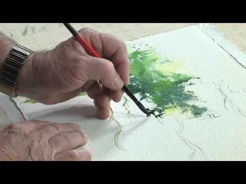 How To Paint Around Veins Of A Leaf In Watercolor Part 7
