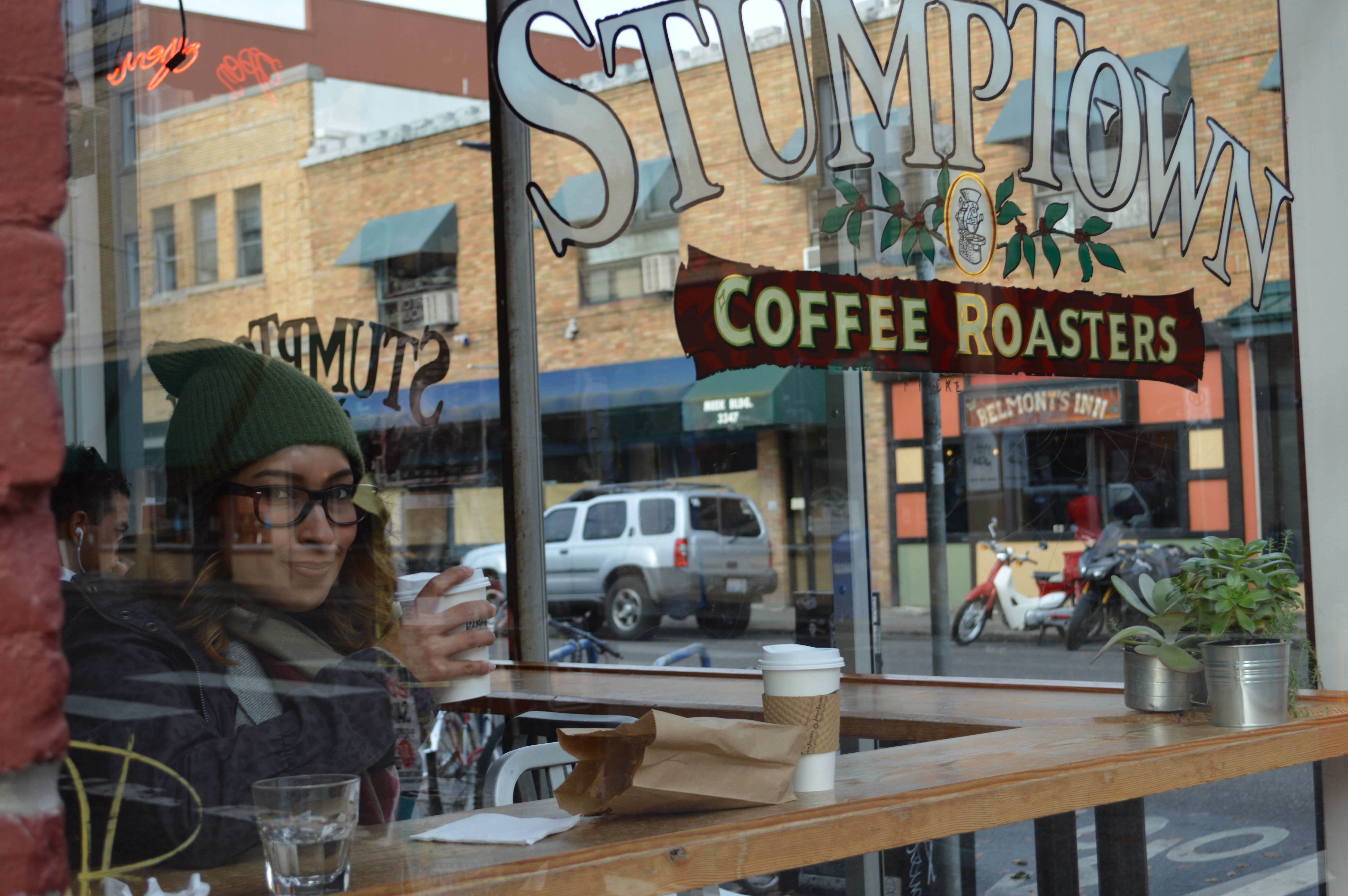 Stumptown coffee roasters on belmont for some warm yummy