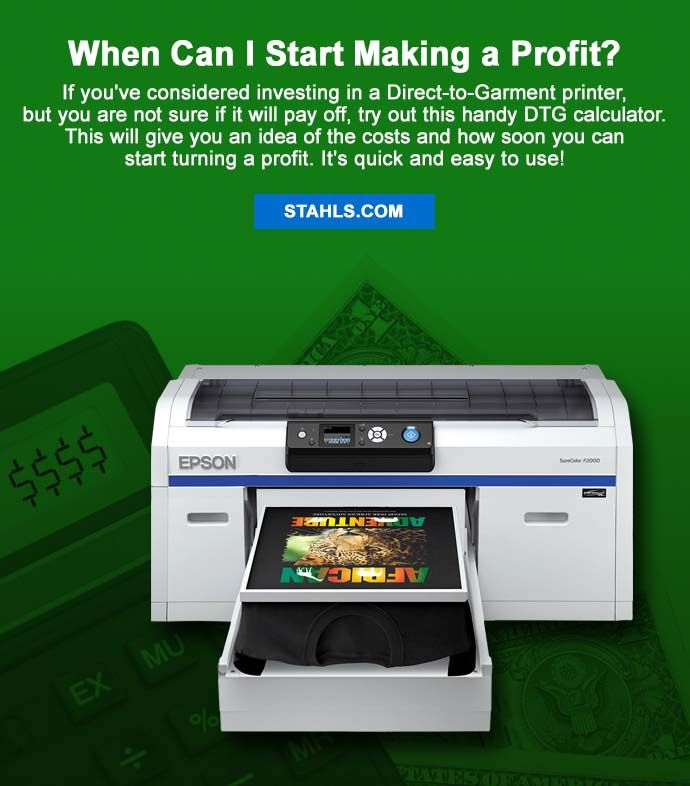 If you've considered investing in a Direct-to-Garment printer, but