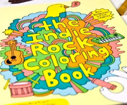 rock out with your crayon out this coloring book features funny and cool scenes and - Indie Rock Coloring Book