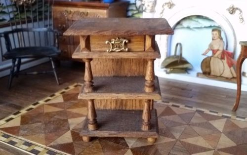 Antique-Dollhouse-Miniature-Side-table-for-Bedroom