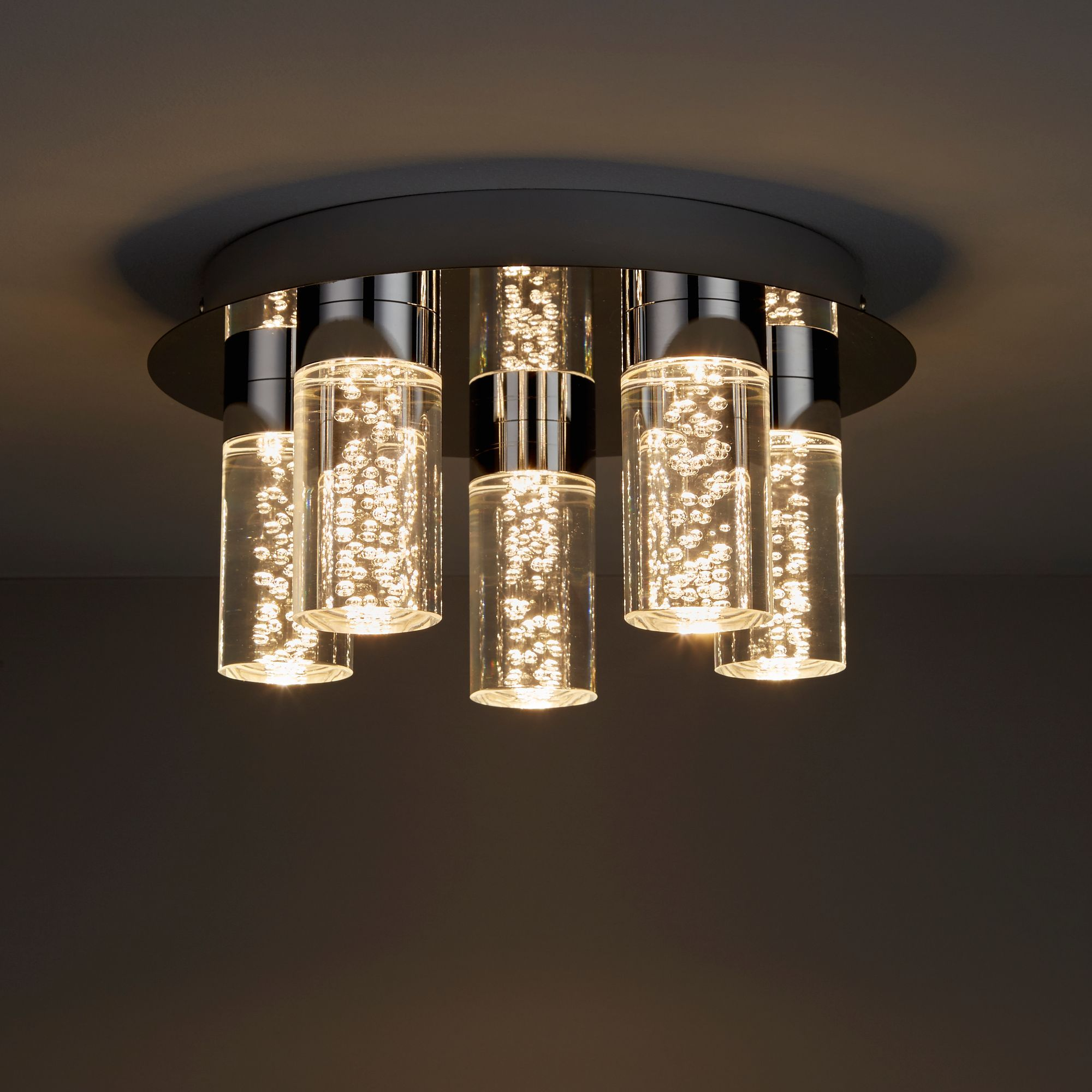 Hubble chrome effect 5 lamp bathroom ceiling light bq for all your home and garden supplies and advice on all the latest diy trends