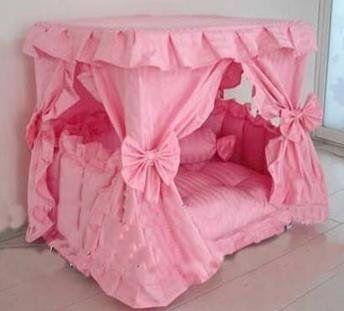Princess Canopy Pet Bed (Large 23.6 x 31.5 x 31.5 Pink) Pet & Princess Canopy Pet Bed (Large: 23.6 x 31.5 x 31.5 Pink) Pet Stop ...
