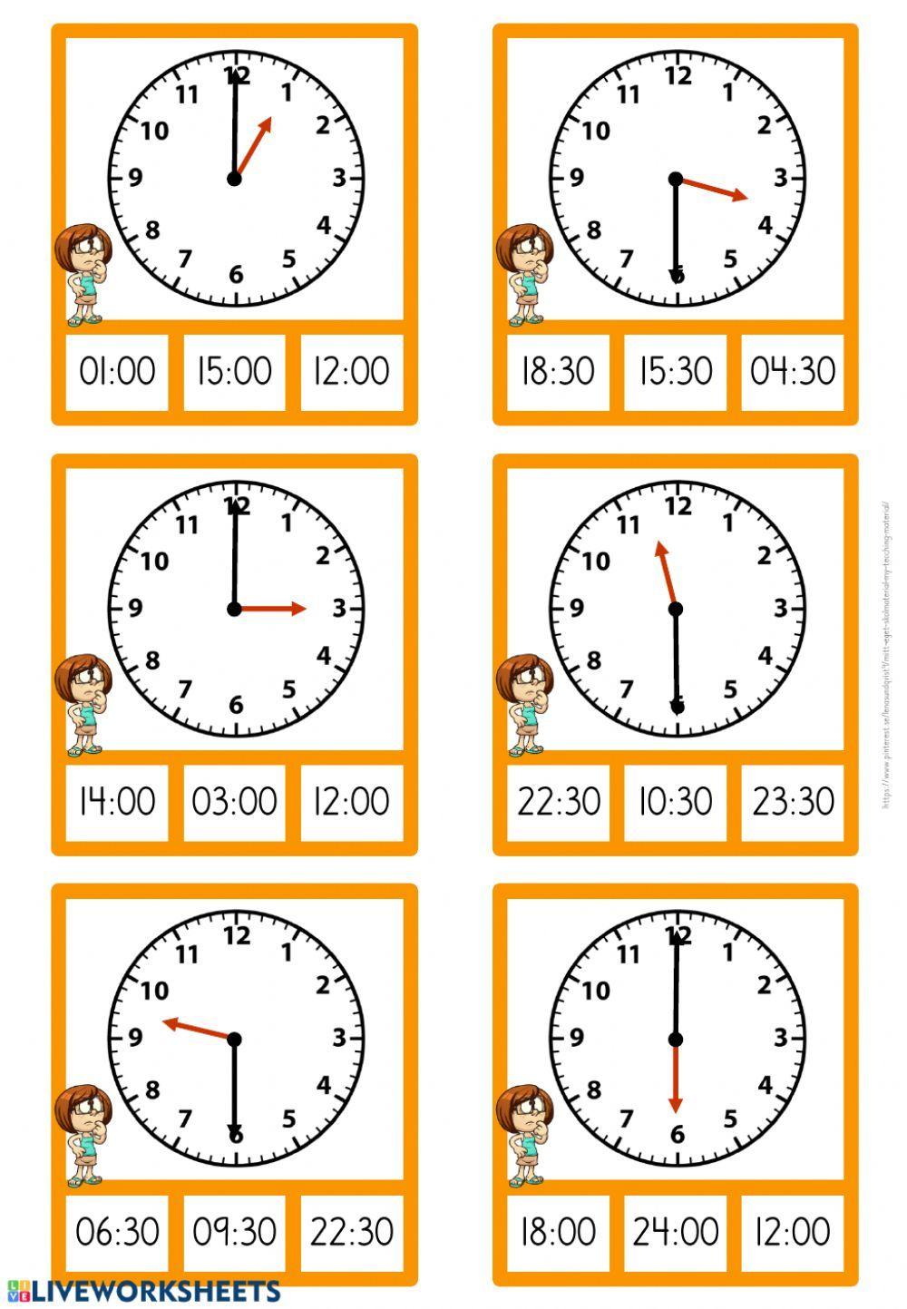 Klockan Interactive Worksheet Time Worksheets Kids Math Worksheets English Worksheets For Kids