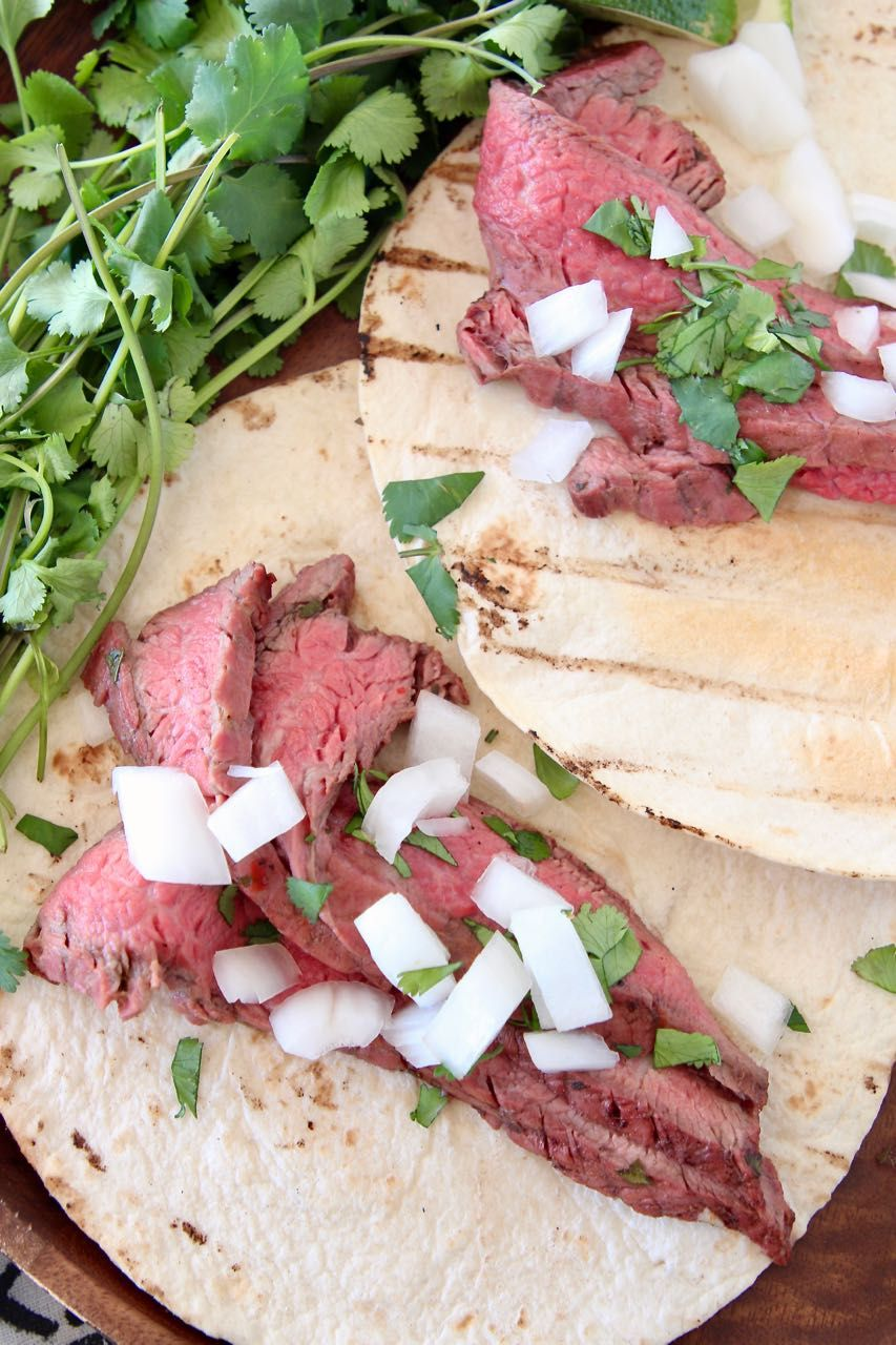 Easy Citrus Marinated Grilled Carne Asada Tacos