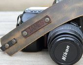 Personalized Leather Camera Strap,Leather Camera Strap,Gift for Photograph Lovers,Camel Camera Strap