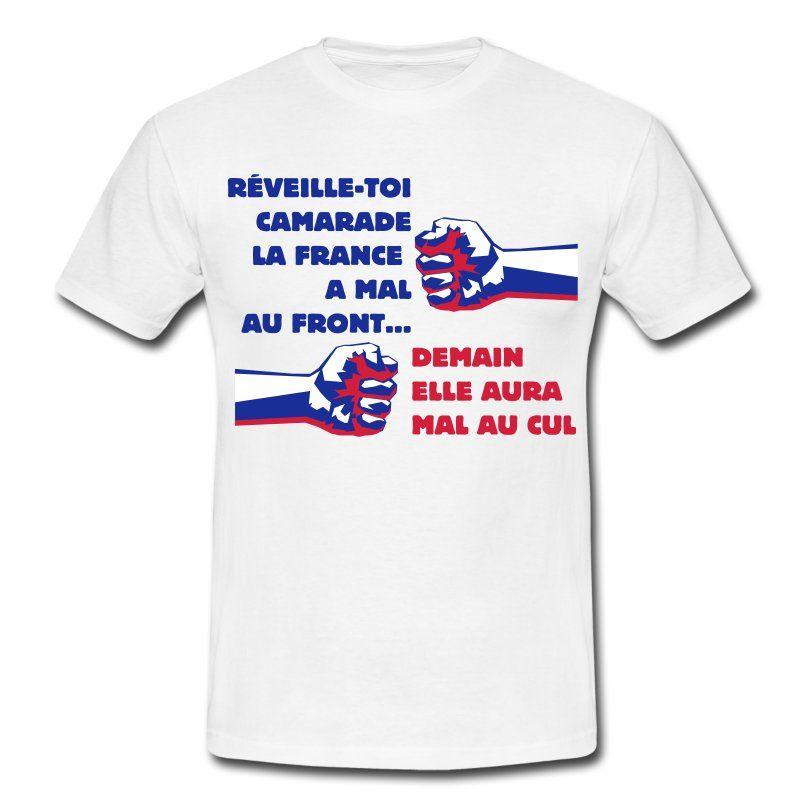 Mal au Front...   T-shirt Homme   T-shirt   politique   Pinterest ... 68fec0618419