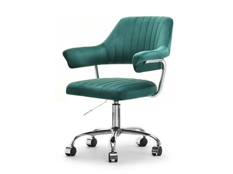 Fotel Biurowy Glam Merlin Zielony Z Weluru I Stelazem Chrom Mebel Partner Pl Furniture Home Decor Chair