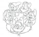 Coloriage Imprimer Blanche Neige 7 Nains.Imprimer Le Dessin En Couleurs Personnages Celebres Walt Disney