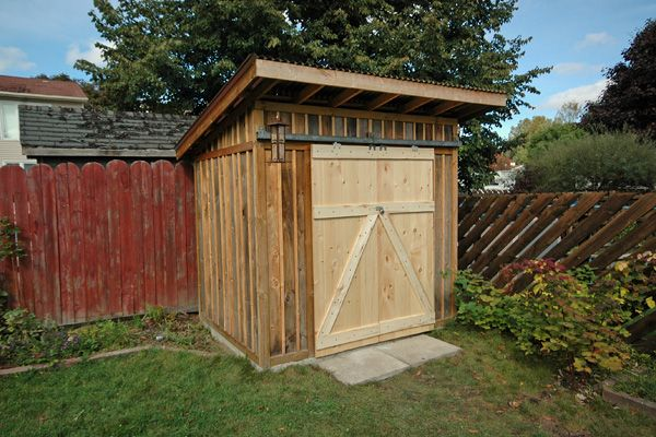I built this shed with the help of my father concrete for Garden shed 4x4