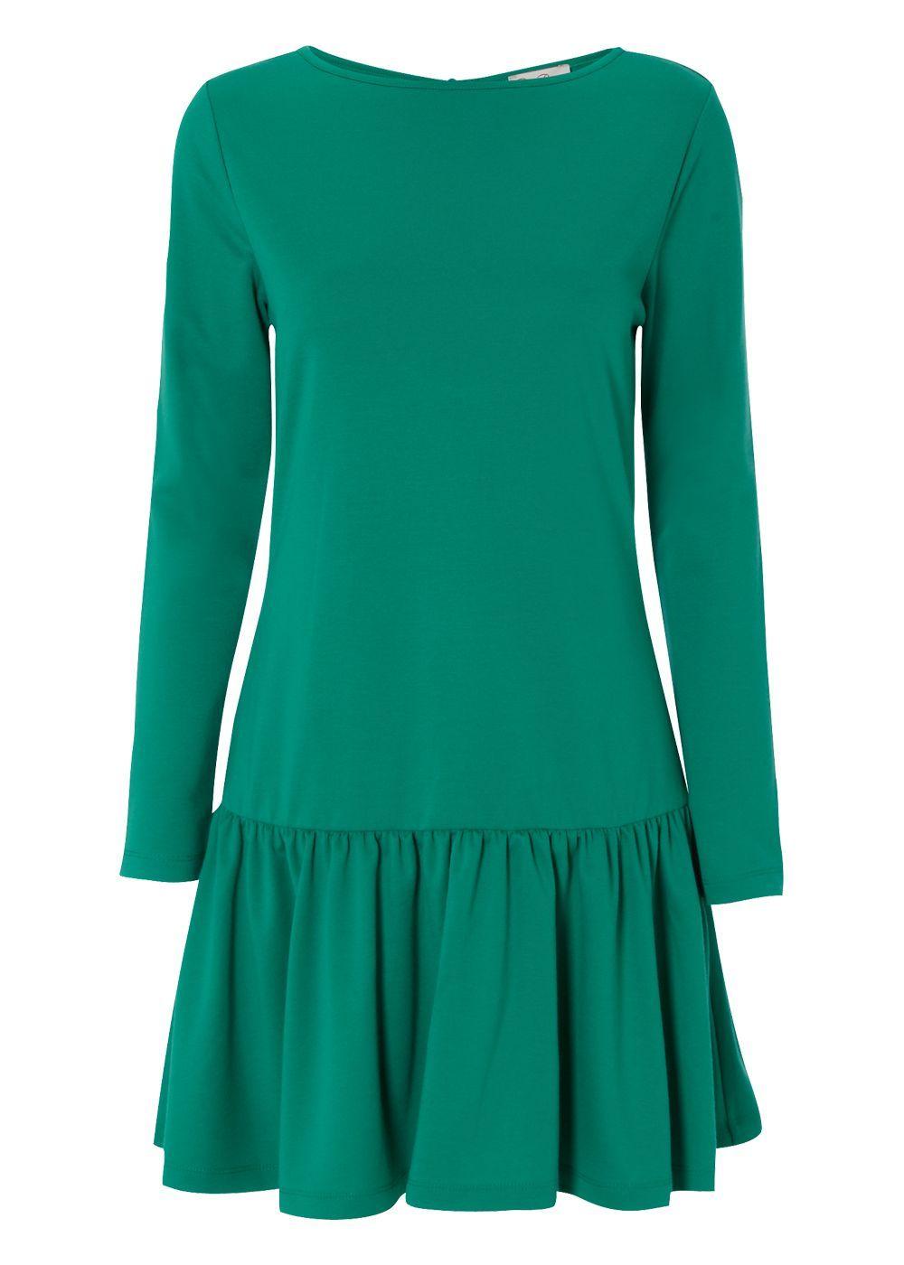 Matalan - Be Beau Ponte Drop Waist Dress In Green | My Style ...